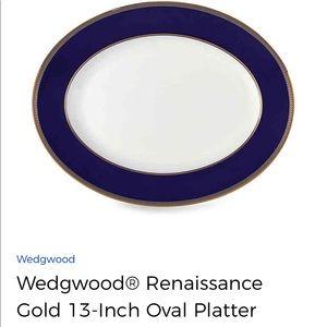 NWT Wedgwood® RenaissanceGold 13-Inch Oval Platter